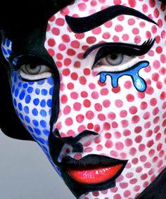 Lichtenstein Pop Art Makeup