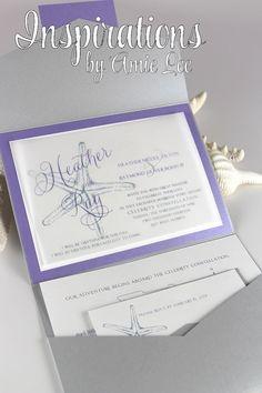 Wedding Invitations by InspirationsbyAmieLe on Etsy, $50.00