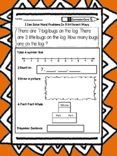 1st Grade Addition Word problems: Solve addition word problems in 5 different ways!This Addition Word Problems product contains 10 addition word problems  that align with the Common Core Standard 1.OA.1. Have fun teaching addition word problems!Dana's Wonderland