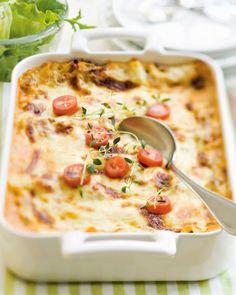 Lasagnea voi muunnella vaihtelemalla kasviksia ja kokeilemalla jauhelihan tilalla vaikka tonnikalaa.