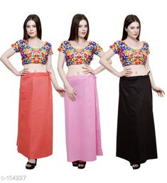 Ethnic Bottomwear - Petticoats Trendy Cotton Women's Petticoat Combo (Set Of 3) Fabric: Cotton Size: Up to 34in to 42 in Hip Round - 44 In Length - 38 In Flair From Bottom - 78 In Pattern: Solid Description: It has 3 Piece Of Petticoat Country of Origin: India Sizes Available: Free Size   Catalog Rating: ★4 (390)  Catalog Name: Solid Cotton Petticoats Combo CatalogID_15359 C74-SC1019 Code: 025-154227-9461