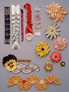 Wonderful Ribbon Embroidery Flowers by Hand Ideas. Enchanting Ribbon Embroidery Flowers by Hand Ideas. Ribbon Art, Fabric Ribbon, Ribbon Crafts, Flower Crafts, Ribbon Bows, Diy Crafts, Ribbon Flower, Ribbons, Handmade Flowers