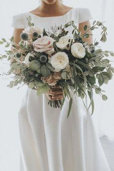 Stunning blush greenery wedding bouquets with thistles. diy bouquet 35 Trending Floral Greenery Wedding Ideas for 2019 Sage Wedding, Floral Wedding, Wedding Day, Burgundy Wedding, Thistle Wedding, Wedding Table, Botanical Wedding Theme, Bridal Table, Garden Wedding