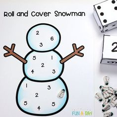 Printable Snowman Number Game for Kids