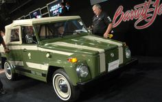 #Throwback #Thursday: Do you remember these cars?  This is a 1974 #Volkswagen Thing Custom Convertible, also known as Volkswagen Type 181 military vehicle. The bidding on this one ended at $19,250 including the buyer's premium. It is estimated that about 90,000 of these were built worldwide.   #tbt #tbthursday #volkswagenthing #thething Volkswagen 181, Volkswagen Thing, My Dream Car, Dream Cars, 4x4, Barrett Jackson Auction, Buggy, Military Vehicles, Cool Cars