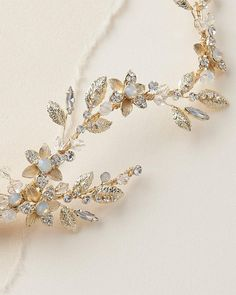 Summer Savings! 20% Off Everything ~ Ends June 30 FREE SHIPPING on orders over $75! (U.S. standard only) Standard Shipping: 3-5 business days ALLURA FLORAL HAIR CLIP *Wedding hair clip Allura is hand-crafted with shimmering crystals, rhinestones and opal stones. A unique garden inspired