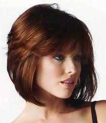Inverted stacked bob with bangs