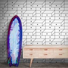 Drawer Wallpaper by Tong Ren Pop Art Wallpaper, Designer Wallpaper, Tong Ren, Elle Decor, Home Art, Drawers, Minimalist, Wallpapers, Simple