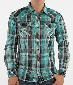 52029426a BKE Vintage Cross Shirt - Men s Shirts in Black Teal