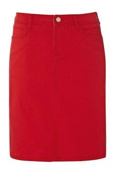 Red Denim Skirt by Ruby Belle want one so bad!!!
