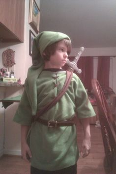 Den as Link for his Legend of Zelda Leap Year birthday party