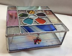 Stained Glass Jewelry Box  Flower Power Box  by PeaceLuvGlass, $38.00