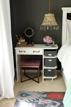 Painted Vanity Nightstand