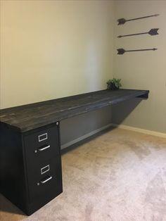 DIY Desk and file cabinet!