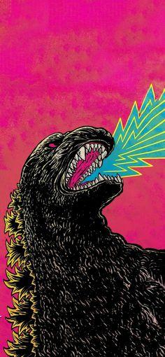 New Godzilla art as my new wallpaper Mobile Wallpaper Ps Wallpaper, Trippy Wallpaper, Aesthetic Iphone Wallpaper, Cartoon Wallpaper, Mobile Wallpaper, Cool Anime Wallpapers, Animes Wallpapers, Japanese Graphic Design, Japanese Art