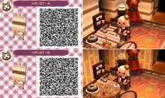 Animal Crossing New Leaf QR codes wallpaper furniture pattern