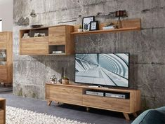 Contemporary TV unit, wall cabinet & wall shelf composition in choice of finish #germania #modernfurniture #interiordesign #homedecor #interiors #furniture #homedesign #designerfurniture #love