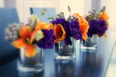 cocktail table arrangements for open house at contemporary home.