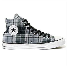 1a7b099b76d625 Converse All Star Hi Shoes - Grey Black Plaid on eBid United Kingdom Outfits