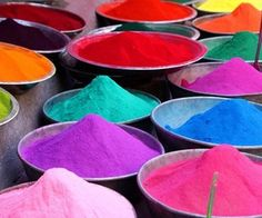 Colors of Rainbow in Powder. 😉❤🌈
