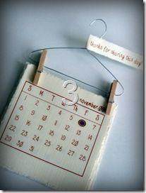 Calendari fai-da-te