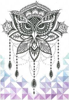 Owl tattoo Finka Owl