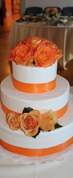 wedding cakes orange buttercream frosting pictures - Google Search