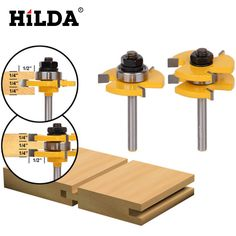 Tongue and Groove Router Bits Set Adjustable 3 Teeth T Shape Wood Milling C. - Tongue and Groove Router Bits Set Adjustable 3 Teeth T Shape Wood Milling Cutter Joinery Bits - Woodworking Router Bits, Learn Woodworking, Woodworking Crafts, Router Drill, Woodworking Store, Woodworking Videos, Woodworking Bench, Power Router, Woodworking Basics