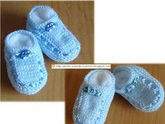 Ponto a ponto e, pronto!: PAP(o) Sapatinho em tricô, para bebê.