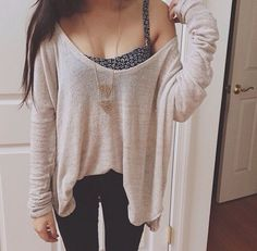 Oversized sweater cute fall outfit