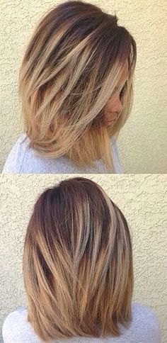 Short blonde ombré.