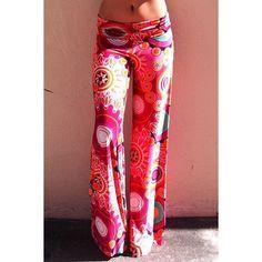 Fashionable Mid-Waisted Loose-Fitting Printed Women's Exumas Pants
