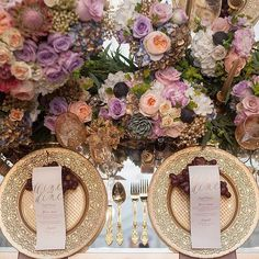 Elegant and dramatic tablescape for a stunning garden or enchanted forest wedding
