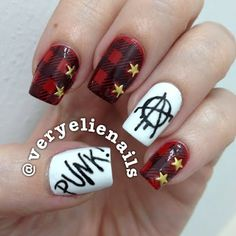 ANARCHY!  A #mani that #punk #rock would be very proud of!  @veryelienails