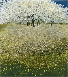 Limited edition etching print Spanish Fields by contemporary British printmaker Phil Greenwood.