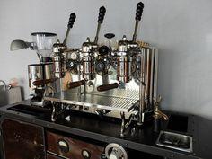 Espresso Coffee Cart with Vintage 1954 Gaggia 3gr Lever Machine | eBay