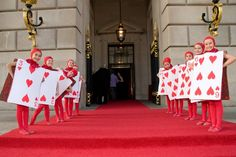 Younger members from the ballet school greeted guests dressed like the card guards from Alice in Wonderland.