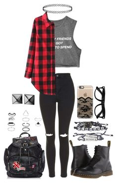"""Me and my friends got money to spend!"" by littlenerd10 ❤ liked on Polyvore featuring Topshop, Dr. Martens, Waterford, Casetify, country, women's clothing, women's fashion, women, female and woman"