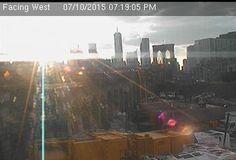 Webcam Cadman @ Prospect - Vue sur le pont de Brooklyn, les gratte-ciel de...