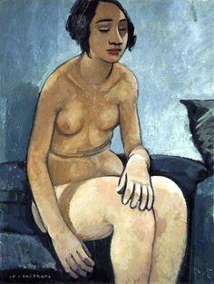 Felice Casorati - Nudo in blu, 1934