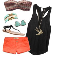 """""""bandeau outfit"""" by jordanbreann on Polyvore"""
