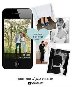 Download all the photos from your wedding guests phones to your computer for free with Wedding Party.