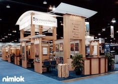 Nimlok designs custom and portable modular trade show exhibits and trade show booths. For Baker Publishing, we built a display solution to showcase their brand.