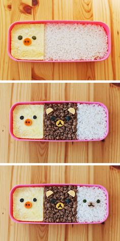 (3) Rilakkuma Kyaraben Recipe! Check out our blog http://www.kawaiikakkoiisugoi.com #DIY #tutorial #kawaii #bento #kyaraben | adorable food *^* | Pinterest | Rilak…