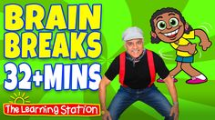 """♫ Music and Movement for Children: """"Shake Your Sillies Out"""" and more popular action and dance songs for children (32+ Minutes)! These songs are ideal for preschool through lower elementary. They are perfect for morning meeting, group activities, indoor recess and brain breaks.  #brainbreaks"""