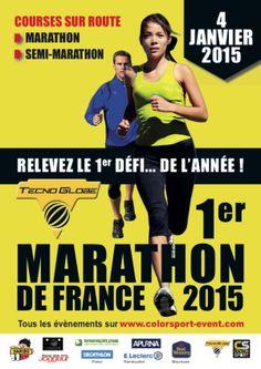 1er marathon de France 2015. Le 4 janvier 2015 le TECNO GLOBE marathon et semi-marathon à Cernay la ville Ce qui en fait le 1er marathon de France 2015