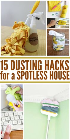 Make cleaning and chores easy.  After reading these DIY hacks, I'll never dust my house the same way again.