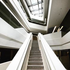 interior #detail #view of #zahahadid's innovation tower. #future #deconstructed #architecture #design #modern #postmodern #travel #travelgram #traveling #travelphotography #hongkong #asia #concrete #stairs