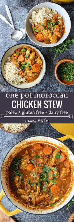 Paleo Moroccan Chicken Stew - Moroccan Spiced Veggies With Shredded Chicken And Chopped Dates Dairy Free Paleo Cheap Paleo Recipes Cooker Recipes, Paleo Recipes, Healthy Dates Recipes, Lactose Free Recipes, Paleo Ideas, Paleo Chicken Recipes, Allergy Free Recipes, Vegetable Recipes, Soup Recipes