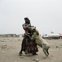 a pet hyena?
